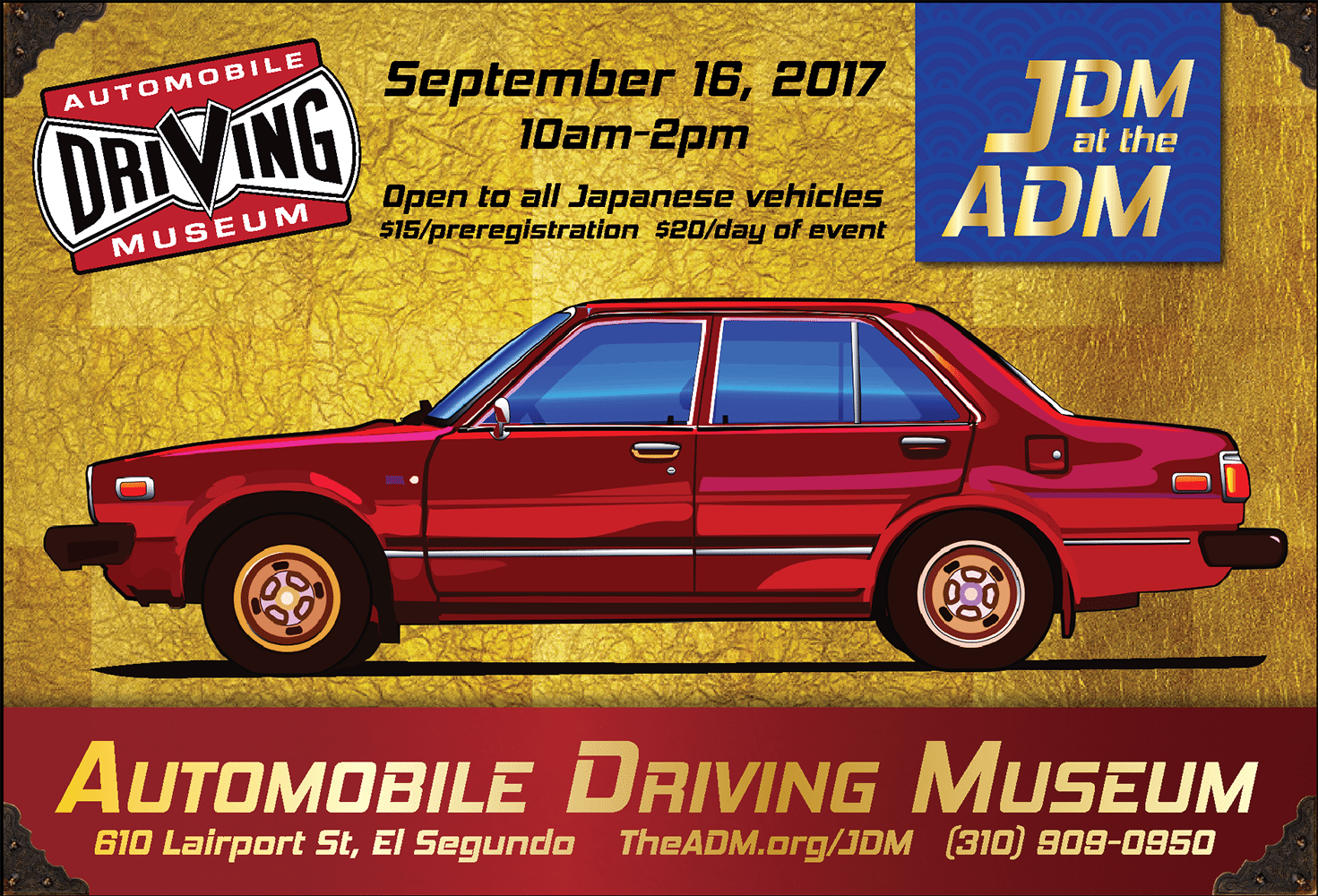 September 16: JDM @ The ADM - Automobile Driving Museum