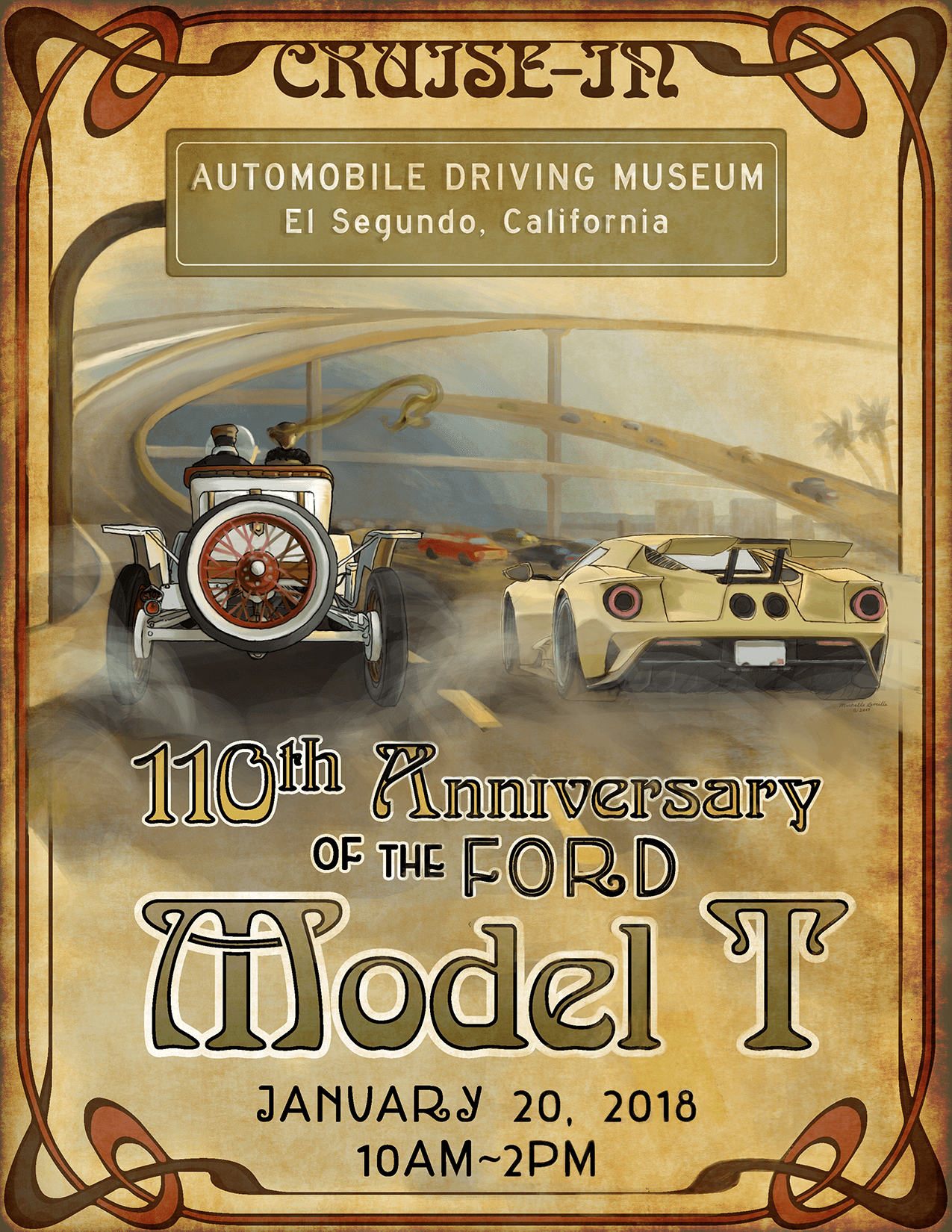 110th anniversary of the ford model t cruise in