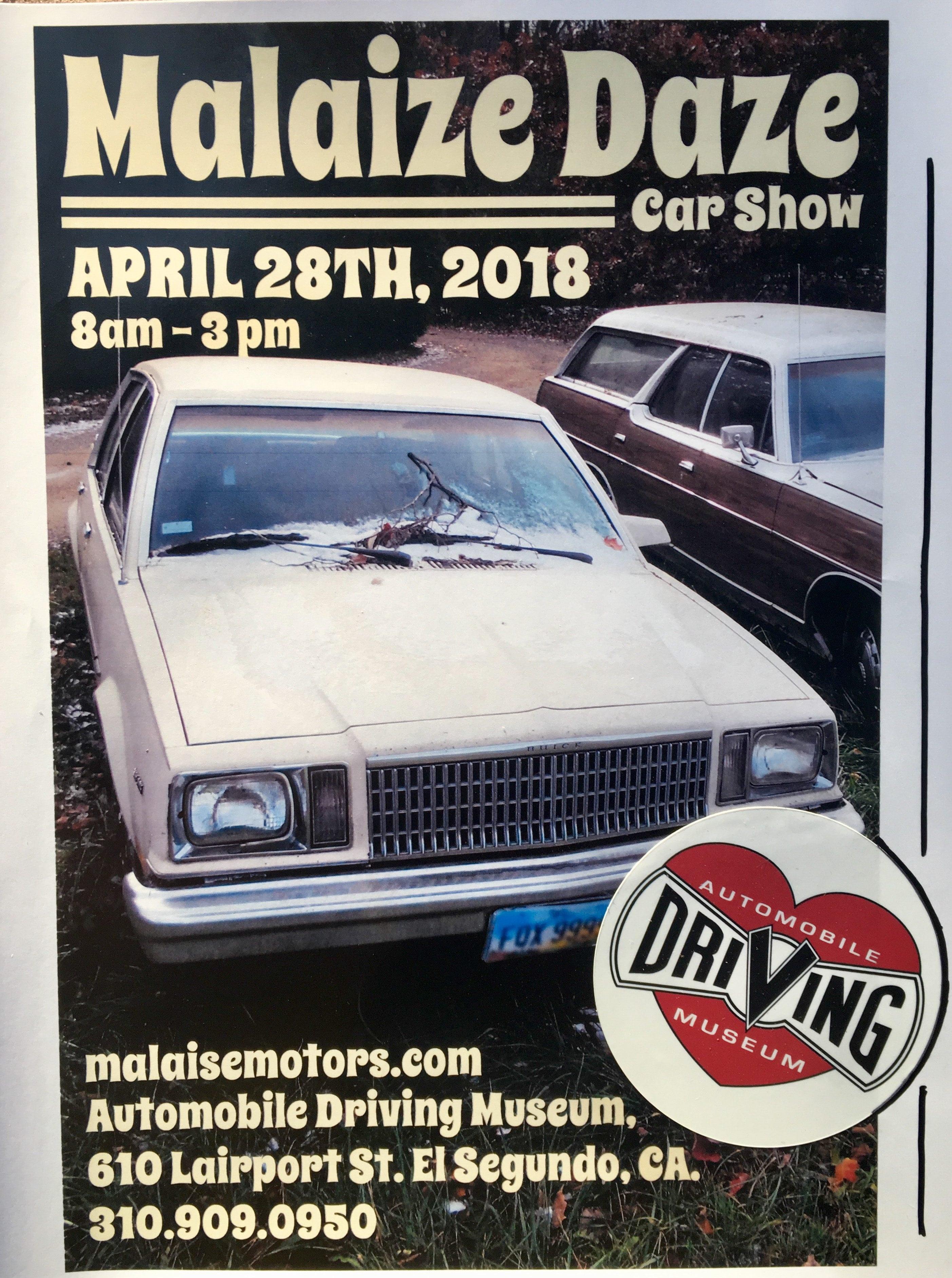 Malaize Daze Car Show Automobile Driving Museum - El segundo car show