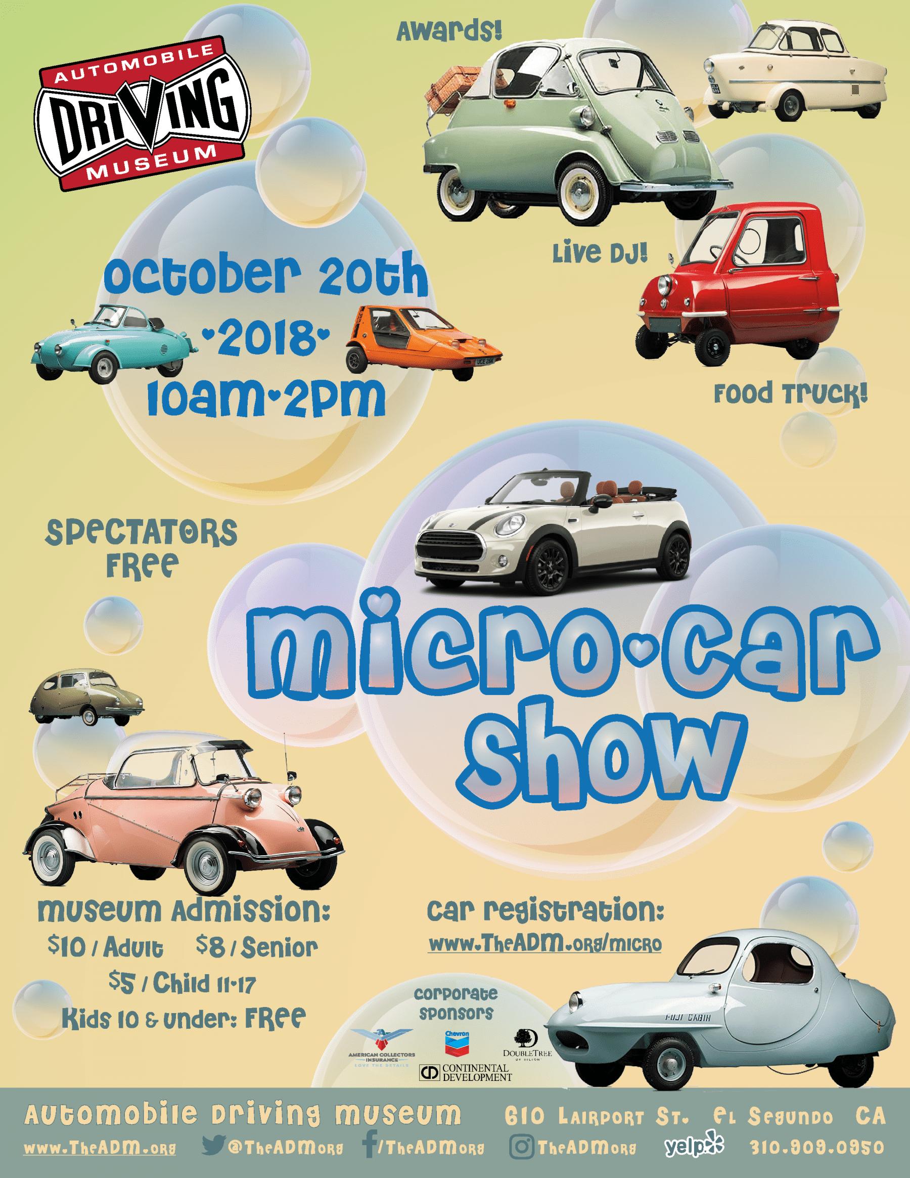 Micro And Mini Car Show Automobile Driving Museum - El segundo car show