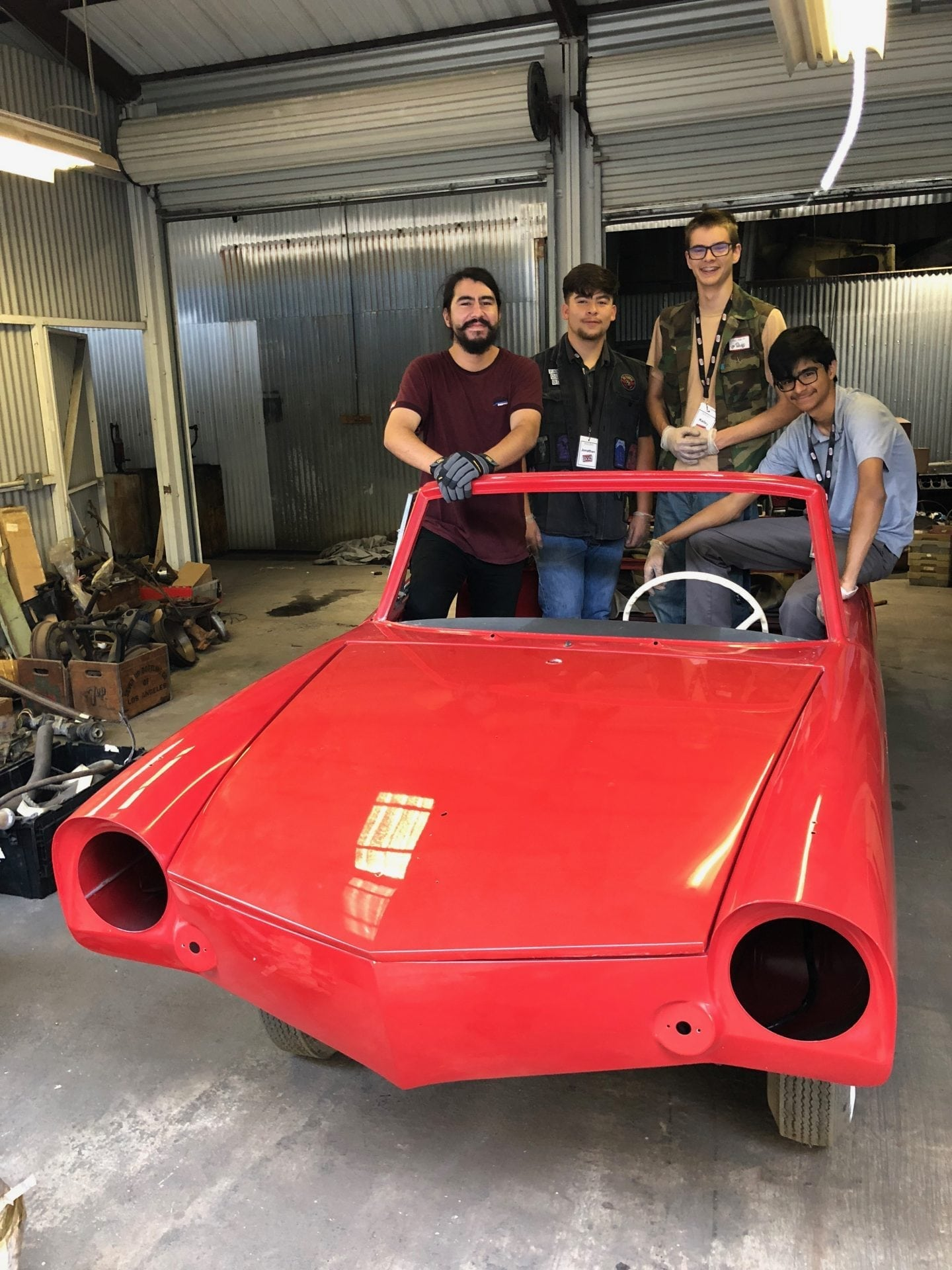 Students Take On A High School Restoration Project On An Amphicar