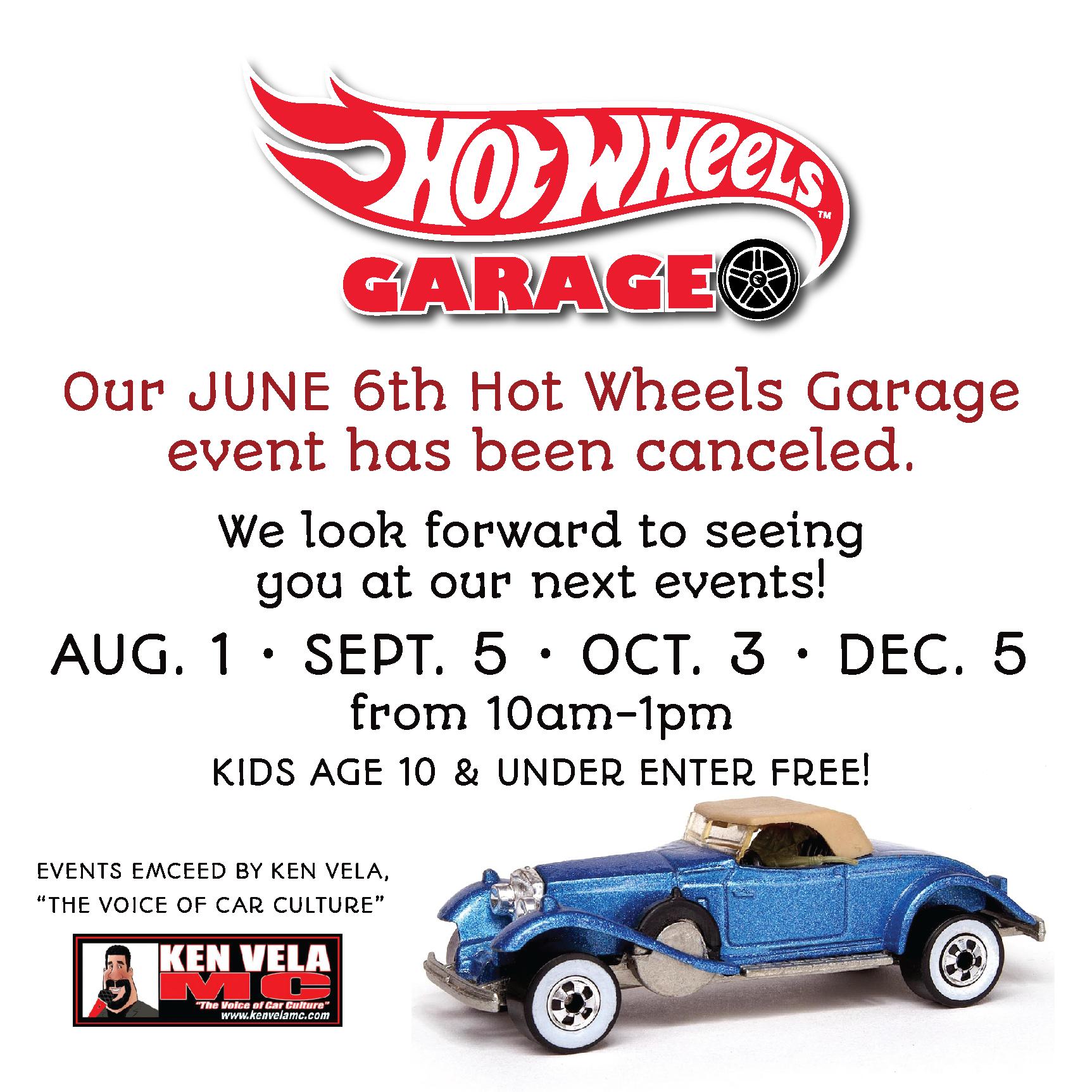 Hot Wheels Garage Event