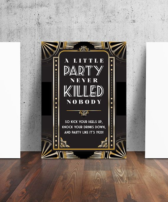 1920s Party Sign