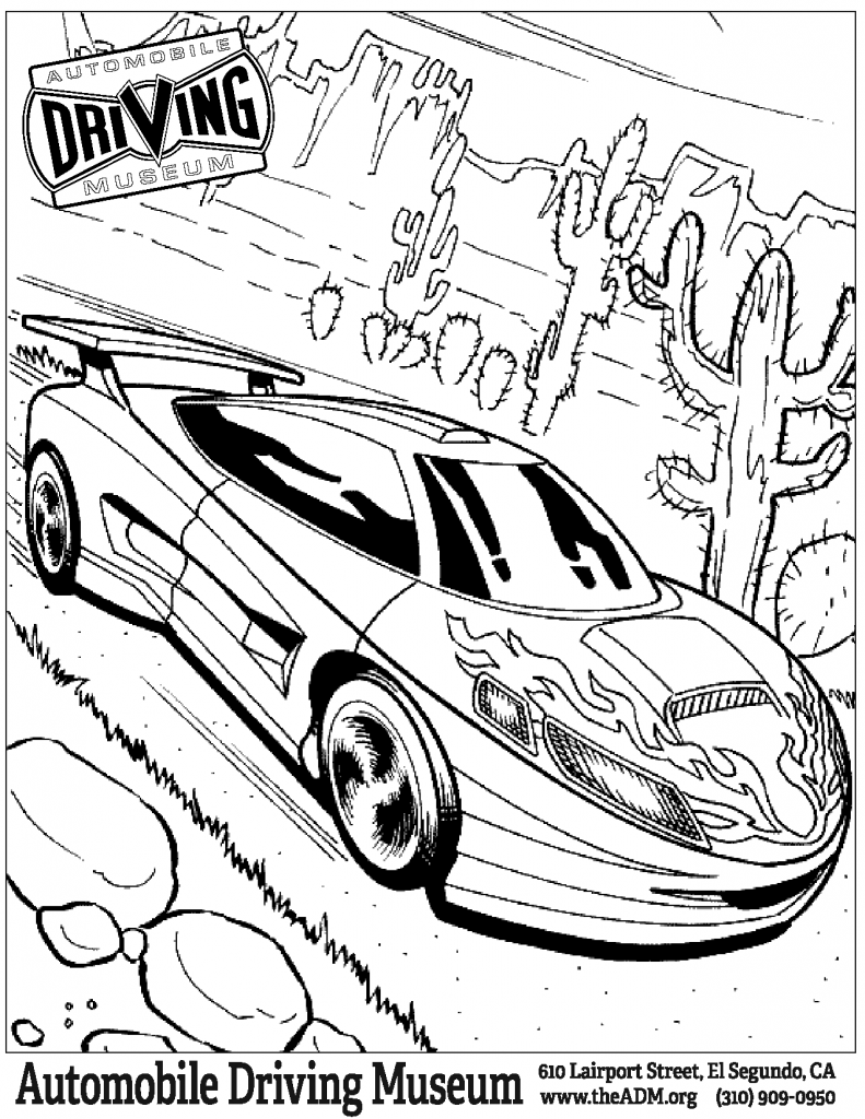 Hot Wheels Garage coloring page 4