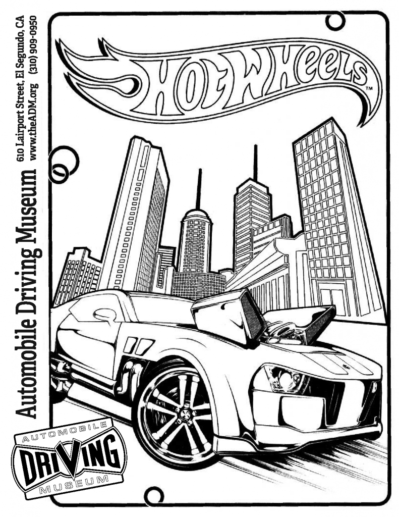 Hot Wheels Garage coloring page 3