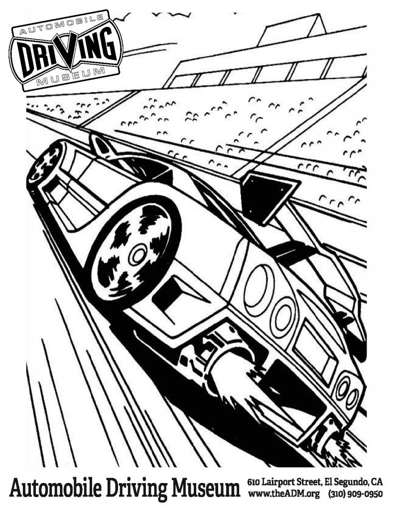 Hot Wheels Garage coloring page 2