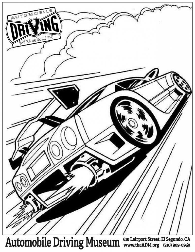 Hot Wheels Garage coloring page 1