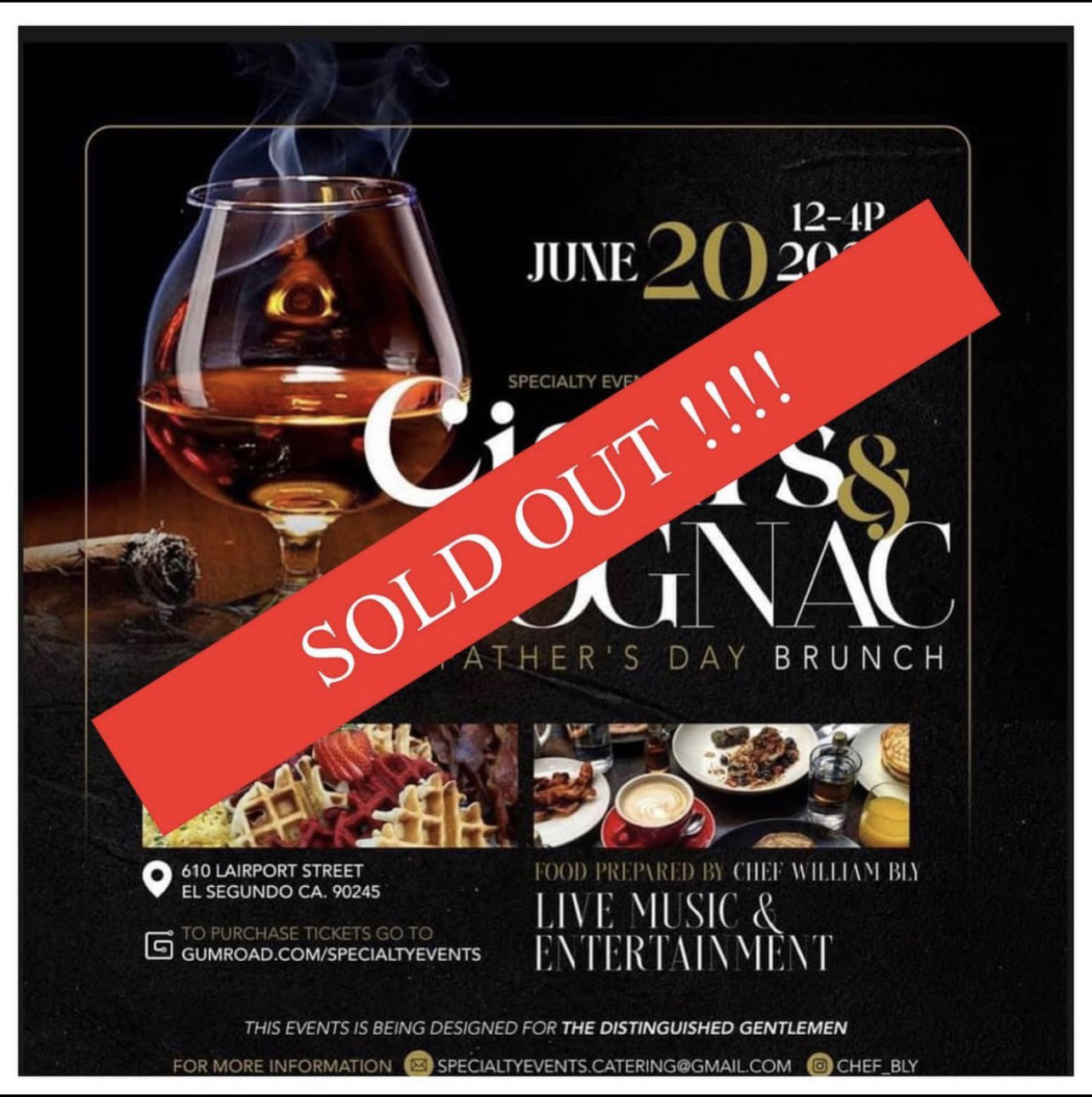 Sunday Brunch Sold Out