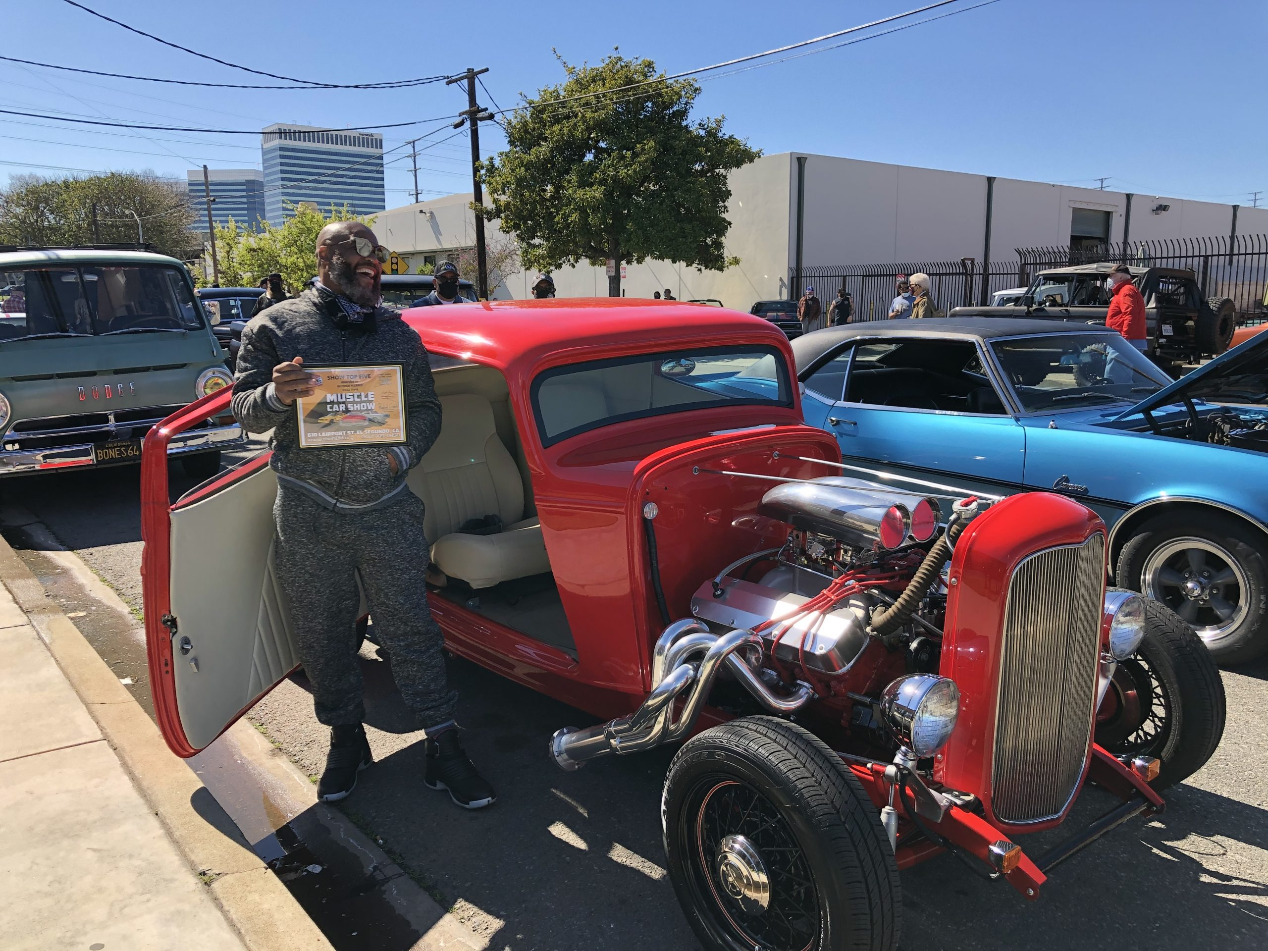 George Harris and his 1932 Ford.