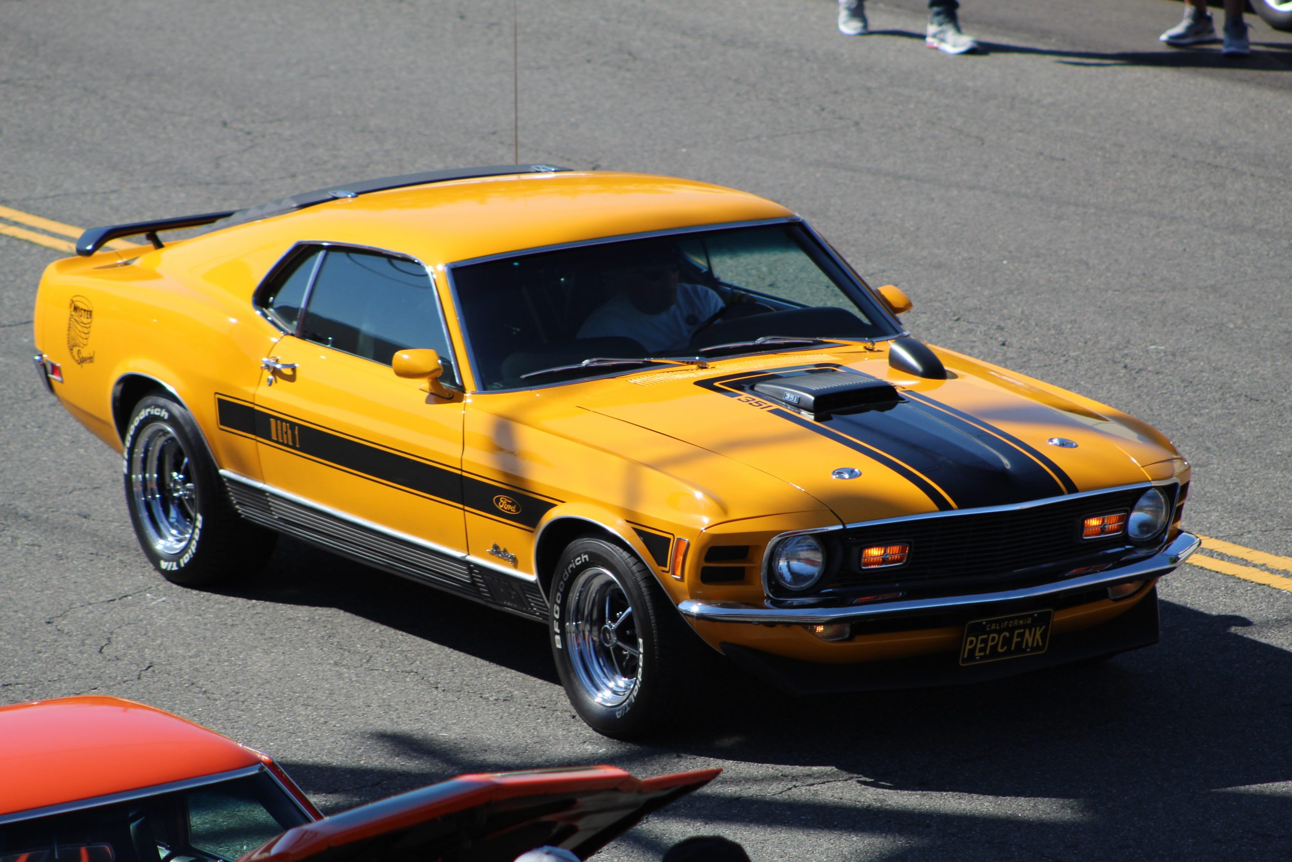 Yellow Ford Mustang Fastback