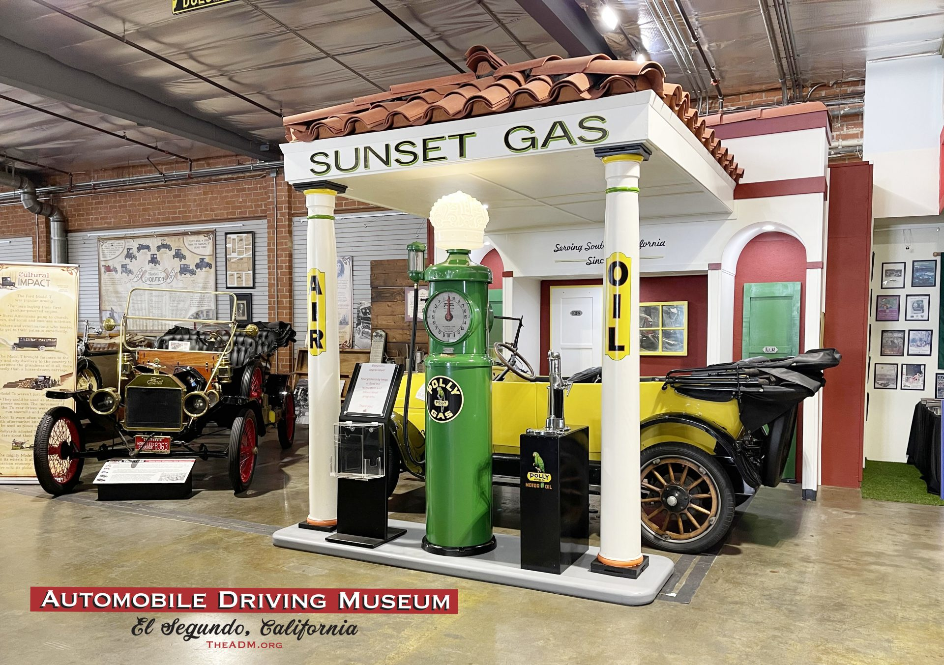 Sunset Gas Vintage Gas Station El Segundo Car Museum