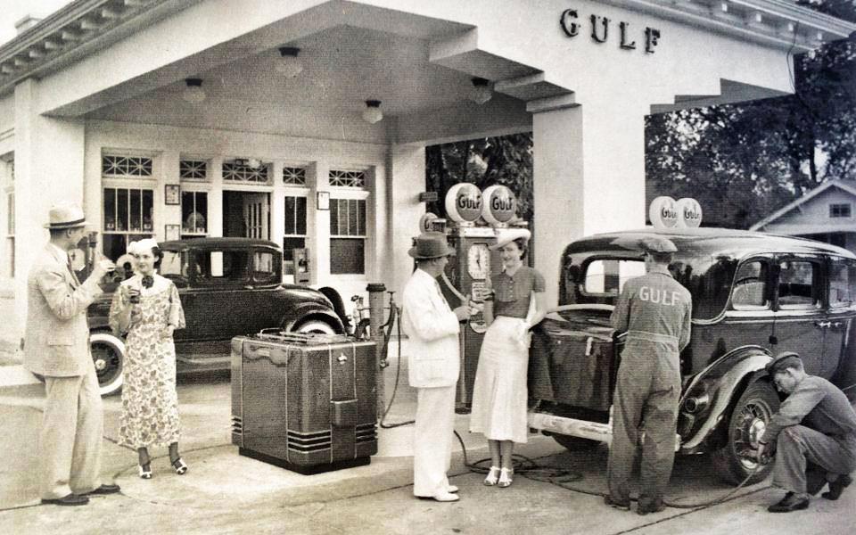 Vintage Gas Station retrospect